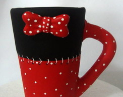 Linda caneca decorativa da minnie