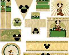 Kit para imprimir Mickey Safari