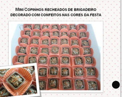 Mini Copinhos de Chocolate Recheados
