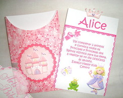 Convite Princesa Pocket Scrap