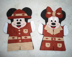 FANTOCHE MICKEY E MINNIE SAFARI