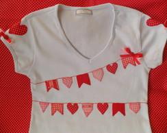 1530d47407 ... Kit com camisa festa junina (coração)