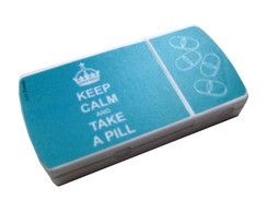 Kepp Calm and Take a Pill Azul