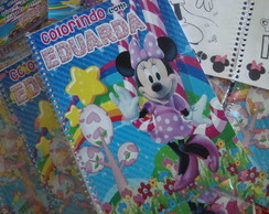 Caderninho para colorir Minnie e Mickey