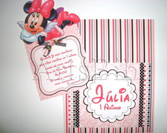 Convite Minnie Pocket