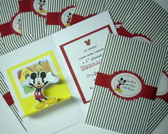 Convite do Mickey Pop Up + Tag
