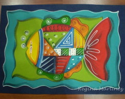 "TAPETE ""PEIXE PATCHWORK"""