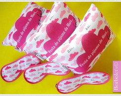 Kit festa do Pijama Nuvens Rosa