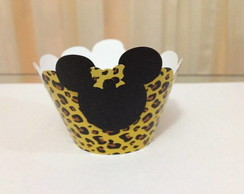 Saia para cupcake Minnie Mickey Safari