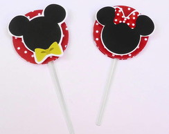 Topper para cupcake Minnie e/ou Mickey
