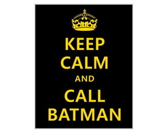 Placa MDF Retrô- K Calm Batman - 335
