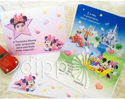 Convite Pop Up Minnie/mickey - Grande