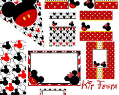 Kit para imprimir - Minnie e Mickey