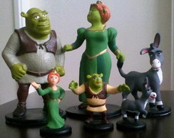 SHREK, PRINCESA FIONA E BURRO MINI