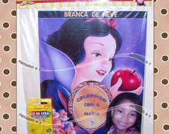 Kit de Colorir Branca de Neve