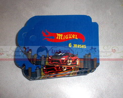 TAG 5X7CM HOT WHEELS