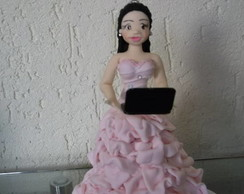 Debutante com notebook