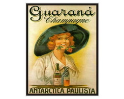 Placa MDF Retrô- Guaraná Champagne - 173
