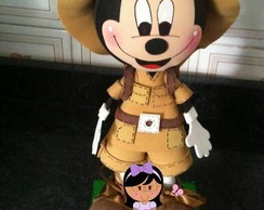 Molde Mickey e Minnie Safari EVA 3d