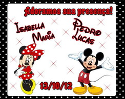 "Tag Agradecimento ""mickey e minnie"""
