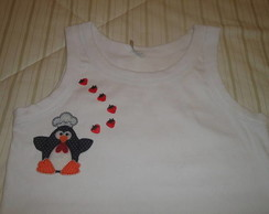 Blusa adulto pinguim
