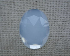 Chaton oval 30 x 40mm - White Opal
