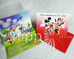 Convite Mickey e Minnie Pop up