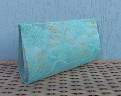 Clutch Renda Turquesa