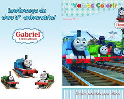 Revistinha De Colorir Thomas