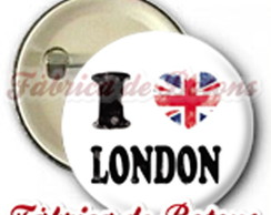 BOTON 4,5cm I LOVE LONDON