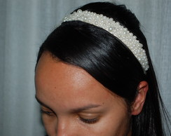 Headband Bordado com Pérolas