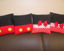 Almofadas Minnie e Mickey 20x20cm