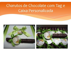 Caixa e 60 Charutos Chocolate com tag