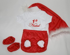 Papai Noel com body Bordado