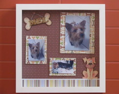 Quadro de Scrapbook - PET