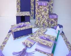 KIT ESCRITORIO LILAS