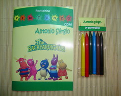 Revista Colorir Backyardigans