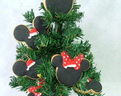 Biscoitos decorados-Natal Mickey/Minnie