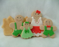 Biscoitos decorados - Gingerbread Family