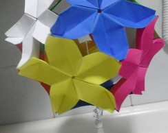 Kusudama Flor de Cerejeira Colorida