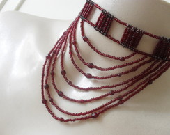 Choker Red Blow Marsala