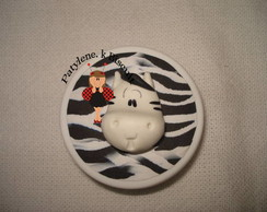 LATINHA  DECORADA ZEBRA DE BISCUIT