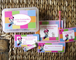 Kit Escolar 01: Minnie Poá color
