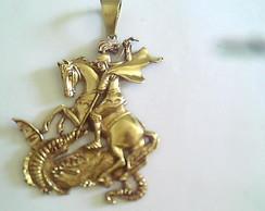 ... Pingente São Jorge Banho de Ouro 18 K cd9015808a