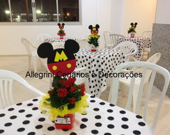 Centro de mesa orelhinhas do Mickey