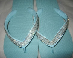 HAVAIANAS TOP ACQUA BORDADA C/ SWAROVSKI MADRINHAS + EMBALAG