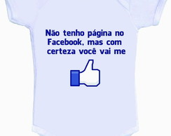 Body ou Camisetinha Facebook