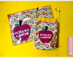 Kit Hora do Lanche Plastificado