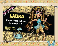 Convite Monster High Cleu de Nile