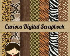 Papéis Scrapbook 32 Jungle